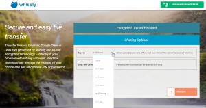 Whisply ist ein Web-Dienst, der Dateien vor dem Hochladen mit einem sicheren Verfahren verschlüsselt, so dass nur noch ausgewählte Nutzer Zugriff darauf haben.