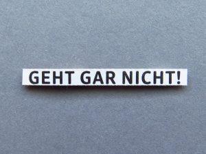 Geht gar nicht! ©knallgrün/Photocase